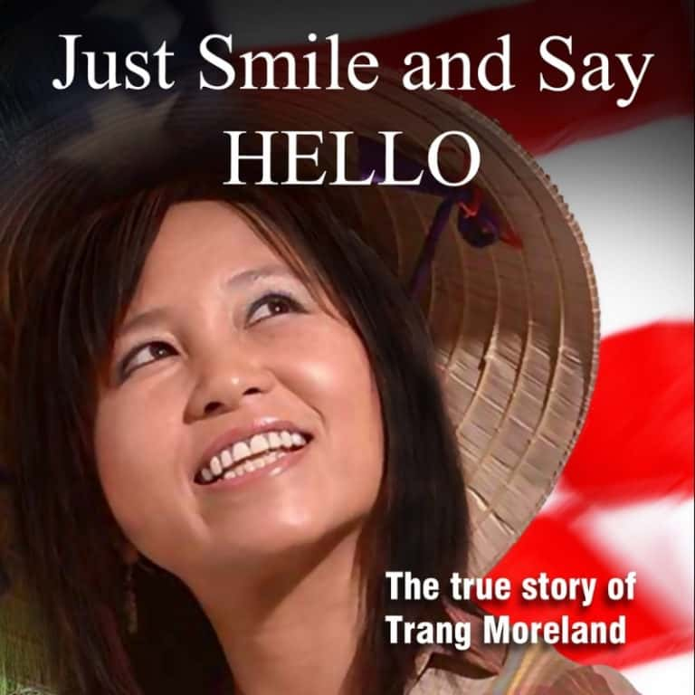 image of just smile and say hello by Trang Moreland book cover